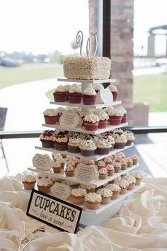 wedding cupcake idea; photo: Bridgette Marie Photography