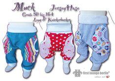 Muck E-Book Jerseyhose Pumphose für Kids mit 3D Taschen Unisex in 10 Größen 50/56-158/164 Nähanleitung & Schnittmuster von firstloungeberlin
