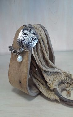 Hammered Cross Toggle Bracelet