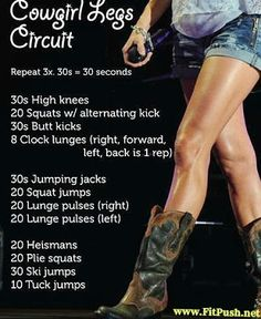 At Home Circuit training workout for legs