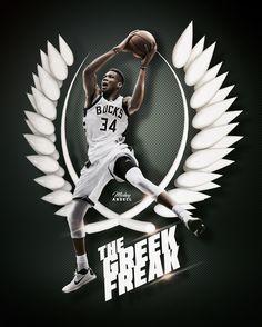 Giannis Antetokounmpo Milwaukee Bucks NBA Art #wmcskills