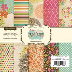 Simple Stories - Fab-U-lous Collection - 6 x 6 Paper Pad at Scrapbook.com $5.99