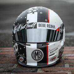 "710 Likes, 12 Comments - Brett King Design (@brettkingdesign) on Instagram: ""@beberexha 's #bkd #allyourfault helmet at @indianapolismotorspeedway on the bricks... …"""