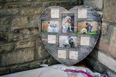 Heart Picture Frame with Pictures of Bride and Groom