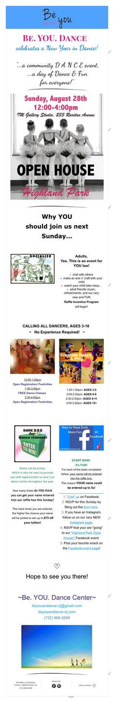 Highland Park Dance Event- Sunday, August 28th!