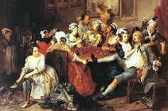 William Hogarth - Rakes Progress, Tavern Scene