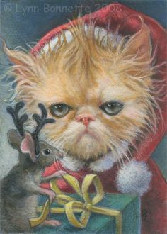 """"""" The Grinch Cat and Mouse """" by Lynn Bonnette"""