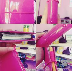 Mein Filofax -Domino Patent -Pocket -hot pink