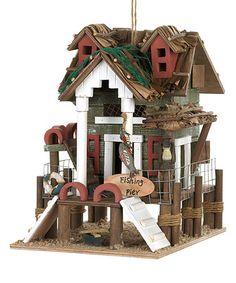 Love this Fishing Pier Birdhouse on #zulily! #zulilyfinds