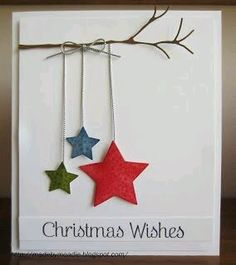 Take your creative skills to the next level with these unique homemade Christmas cards.See more ideas about DIY Christmas Cards Quick And Easy To Make . holiday DIY Christmas Cards Quick And Easy To Make Christmas Card Crafts, Noel Christmas, Holiday Crafts, Christmas Decorations, Christmas Ornaments, Christmas Movies, Unique Christmas Cards, Christmas Wishes For Cards, Childrens Homemade Christmas Cards