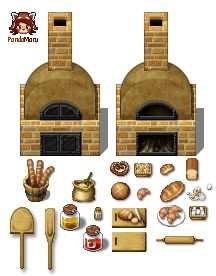 Terms of Service These resources are created for RPG Maker MV by Kadokawa. You need to own a legal licence for this particular RPG Maker. Rpg Maker Vx, Arts Bakery, Video Game Sprites, Pixel Art Games, Pixel Design, Game Item, Game Assets, Video Maker, Art Object