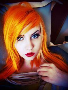 #hair #girl #orange #yellow #bright