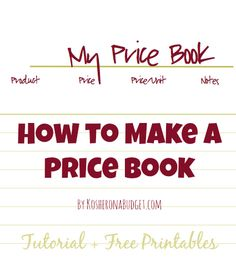 How to Make a Price Book Tutorial Free Printables Price Books 101 & Free Printables Save Money On Groceries, Ways To Save Money, Money Saving Tips, Frugal Living Tips, Frugal Tips, Budget Organization, Organizing, Extreme Couponing, Price Book