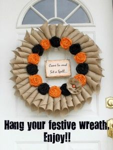finished hanging wreath