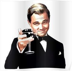 'The Great Gatsby Leonardo Di Caprio' Poster by SugarOP Leonardo Dicaprio Great Gatsby, Cute Laptop Stickers, Scarf Shirt, The Great Gatsby, Chiffon Tops, How To Look Better, Netflix, Canvas Prints, Famous Portraits