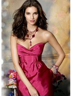 Cheap Divine A-line Watermelon Red Straps Knee Length Bridesmaid Dress $191.47 Cheap Bridesmaid Dresses