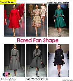 Flared Fan Shape #Fashion #Trend for Fall Winter 2013 #mfw #trends  March 5th, 2013 4:35 P.M. GMT