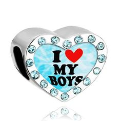 Pugster Heart Photo Beads Aquamarine Crystal I Boys Fits Pandora Charm Bracelet Pugster. $16.49. Size (mm): 12.96*7.12*10.3. Metal: Crystal. Color: Silver, Aquamarine. Weight (gram): 2.8
