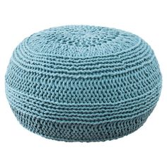 For Brandi's Room -  Cable Knit Pouf in Aqua from the Winter Whites & Brights event at Joss and Main!