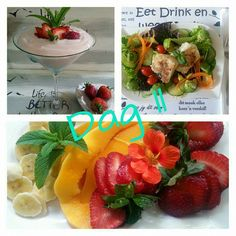 28 Dae Dieet, Dieet Plan, 28 Days, Afrikaans, Eating Plans, Fruit Salad, Diabetes, Meal Planning, Health Fitness