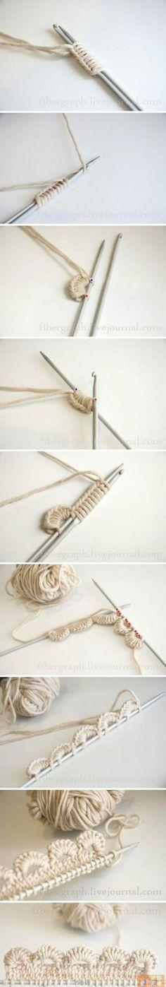 Bekijk de foto van vHarten met als titel Handige manier om een mooi randje te breien en andere inspirerende plaatjes op Welke.nl.