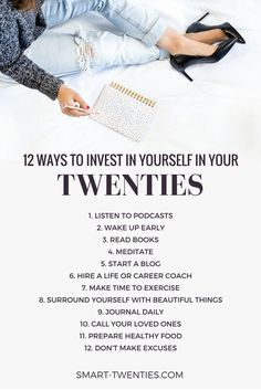 Find out how twenty-somethings can invest in themselves to make the most of their twenties. Plus personal development tips and life advice for millennials. A must-read if you're in your twenties! diet 21 days 10 Simple Ways I Invest In Myself Life Advice, Career Advice, Career Planning, Career Ideas, Life Tips, Self Development, Personal Development, Development Quotes, Mental Training