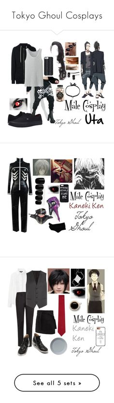 """Tokyo Ghoul Cosplays"" by lily-kun ❤ liked on Polyvore featuring DRKSHDW, Haculla, Uniqlo, Vans, Savannah Hayes, DANNIJO, men's fashion, menswear, Elegant Touch and Neil Barrett"