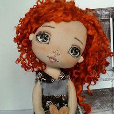 Купить Лучик. Коллекционная кукла ручной работы. - коричневый, коллекционная кукла, кукла ручной работы
