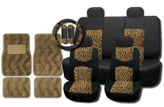 New and Exclusive Mesh Animal Print Accent Interior Set Cheetah Tan Brown 15pc Seat Covers Front & Back Lowback, Back Bench, Steering Wheel & Seat Belt Covers - Floor Mats Unique Imports http://www.amazon.com/dp/B00B2QGBSG/ref=cm_sw_r_pi_dp_I6Rtub1PZAA5P