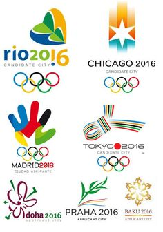 2016 Several candidates citys logos for Olympics Games