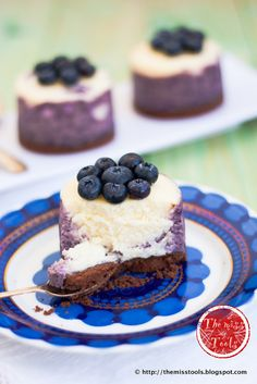 The Miss Tools: Cheesecake-mini Mirtilli e Limone - Little Blueberries Lemon Cheesecakes