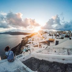 Photo of the Day! A beautiful Santorini sunset? ✅ that off the #bucketlist! #: @dingaxl. Share your favorite travels with us at gopro.com/awards. #GoPro #GoProTravel #Greece