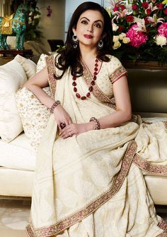 Nita Ambani in Abu -Sandeep 's saree