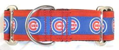 Chicago Cubs martingale dog collar, MLB martingale collars - Trendy Hounds