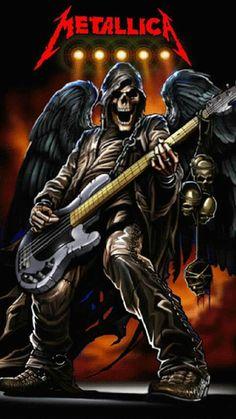 Grim Reaper Art, Don't Fear The Reaper, Gothic Wallpaper, Heavy Metal Art, Images Disney, Skull Pictures, Skull Artwork, Dark Artwork, Arte Obscura