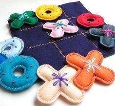 10 ideias de brinquedos que dá para fazer com feltro ~ Macetes de Mãe:
