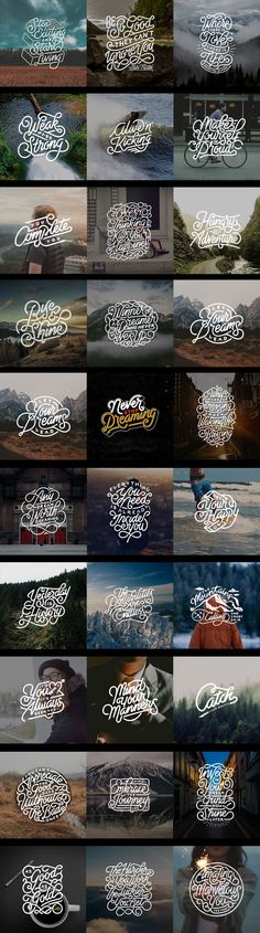 Hand Lettering Quotes v.1 on Behance