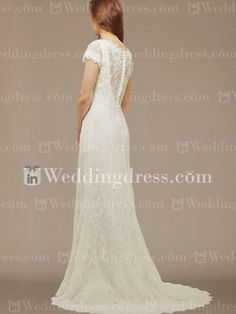 Lace V-neck Wedding Dress - Want one like this SO much for the vow renewal!