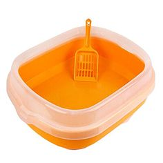 Indoor Training Pet Potty Cat litter Basin185155ORANGE >>> Continue to the product at the image link.