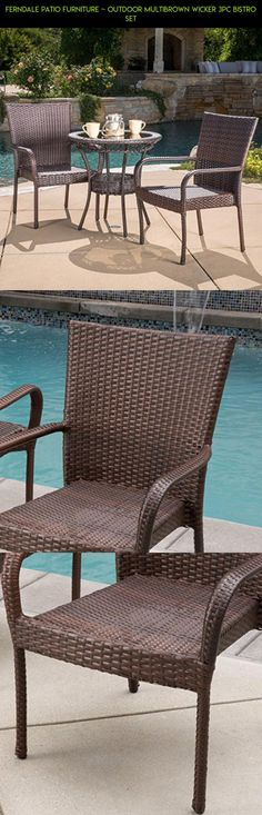 Ferndale Patio Furniture ~ Outdoor Multibrown Wicker 3pc Bistro Set #camera #products #gadgets #assembly #patio #fpv #racing #technology #furniture #no #parts #drone #tech #kit #plans #shopping