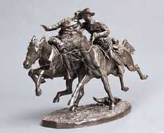Frederic Remington, The Wounded Bunkie, cast B, private collection    bronze sculptures, lifetime bronze casts, Remington paintings, horse sculptures, Remington sculptures paired with paintings, Sid Richardson Museum, Charles M. Russell, 19th century American West, Old West, Sid W. Richardson, museum, Fo