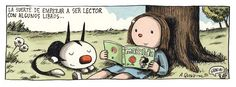 Liniers is in the US, on a road trip. His TOON book is getting a marvelous reception. Funny Images, Funny Pictures, Humor Grafico, Inspirational Books, I Love Books, Manga, Comic Strips, Picture Photo, Illustrators