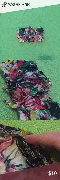 Bright colored Bandeau Good used condition- so cute and easy to accessorize! California Select Intimates & Sleepwear Bandeaus