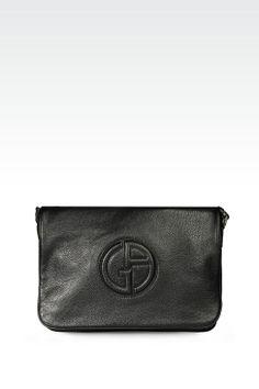 fd9cf689e515 Calfskin Messenger Bag with Logo