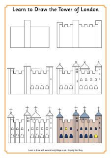 England - Learn to draw the Tower of London