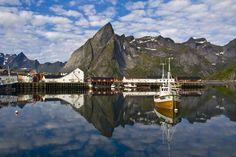 Svolvær harbour in Lofoten