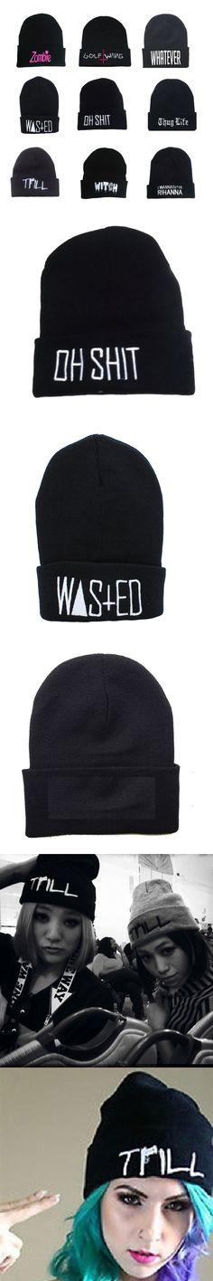 Mens Winter New Beanies Gorro Feminino Inverno Kuso Hip-hop Oh Knit Hat Bboy  Knitting Caps  Bonnet Men Winter Caps Women Hat