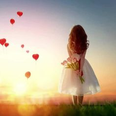 Heart Balloons And Love Girl Sunset Wallpaper Sunset Wallpaper, Heart Wallpaper, Love Wallpaper, Wallpaper Desktop, Mobile Wallpaper, Pink Tulips, Tulips Flowers, Cute Photography, Children Photography