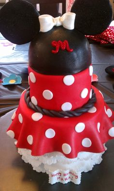 Minnie Mouse Birthday By kcassano on CakeCentral.com