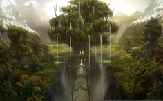 forest_mountain_valley_bridge_tree_castle-1920x1200.jpg (1920×1200)